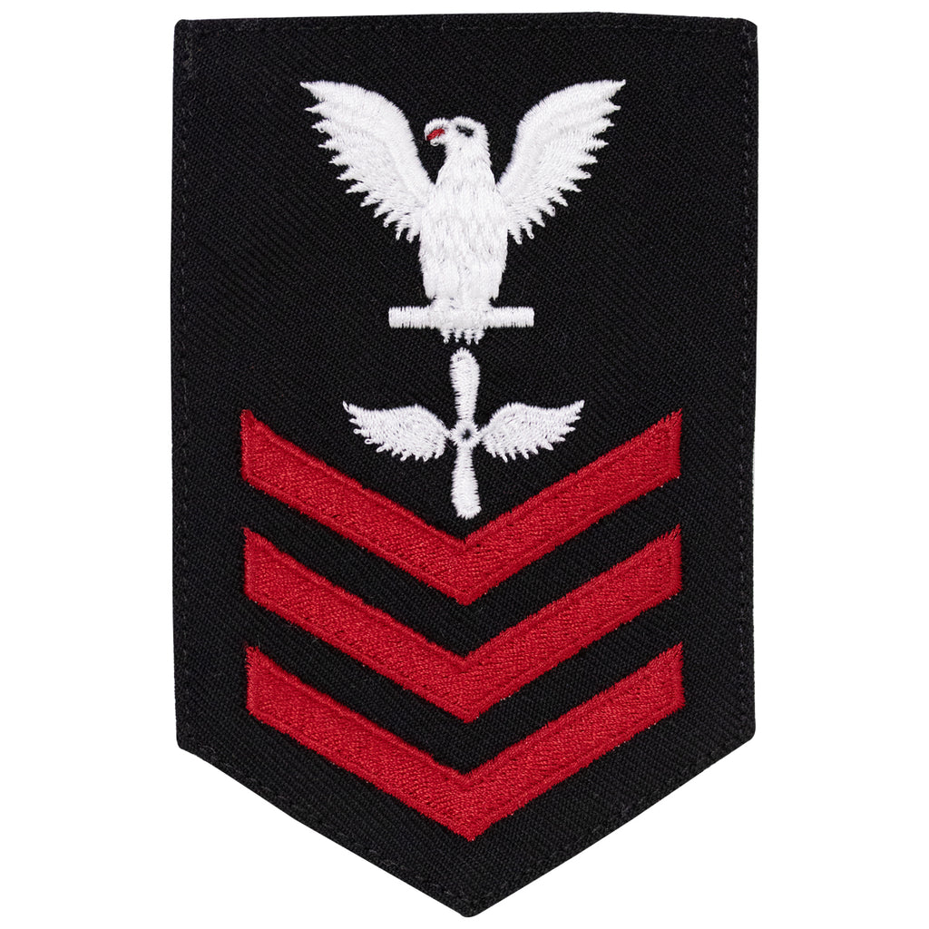 Navy E6 FEMALE Rating Badge: Aviation Machinists Mate - New Serge for Jumper