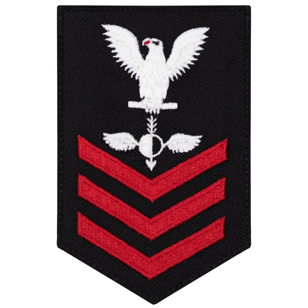 Navy E6 FEMALE Rating Badge: Aerographers Mate - New Serge for Jumper