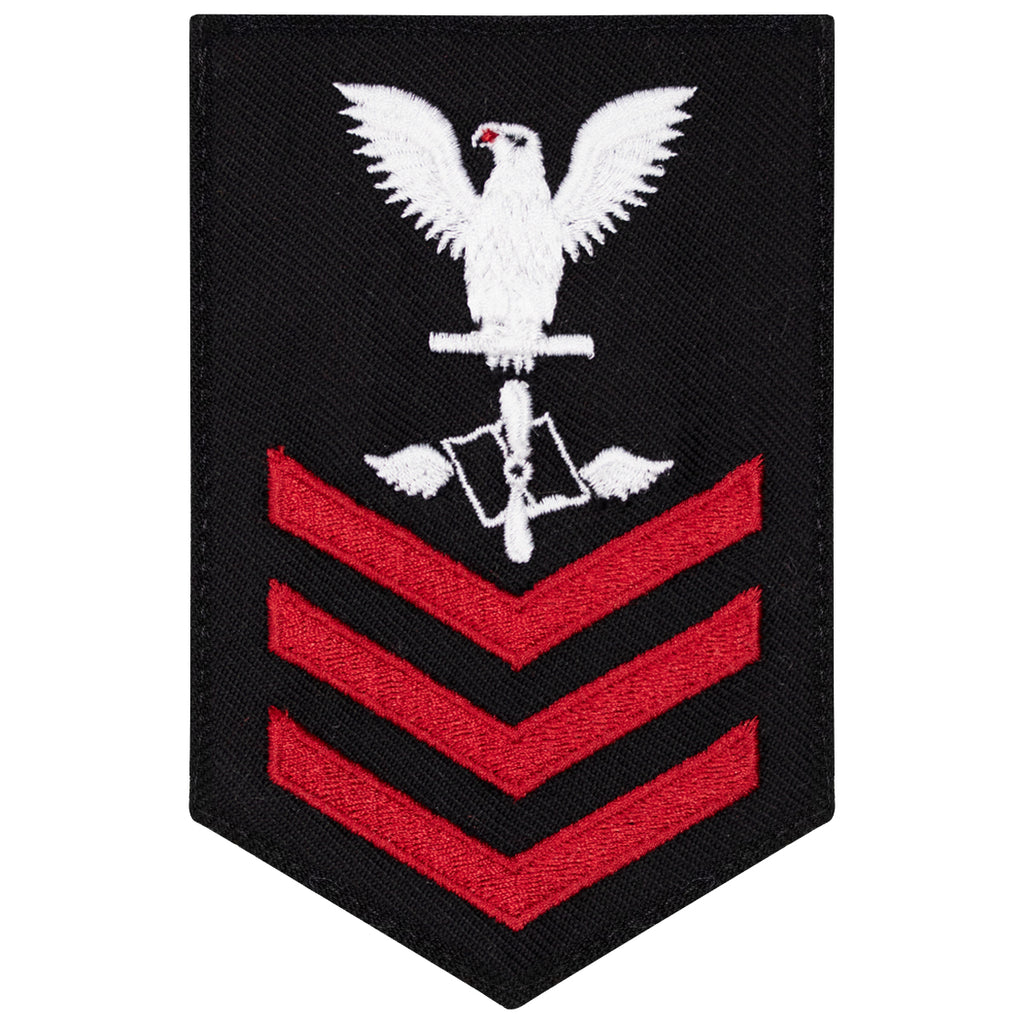Navy E6 FEMALE Rating Badge: Aviation Maintenance Admin - New Serge for Jumper