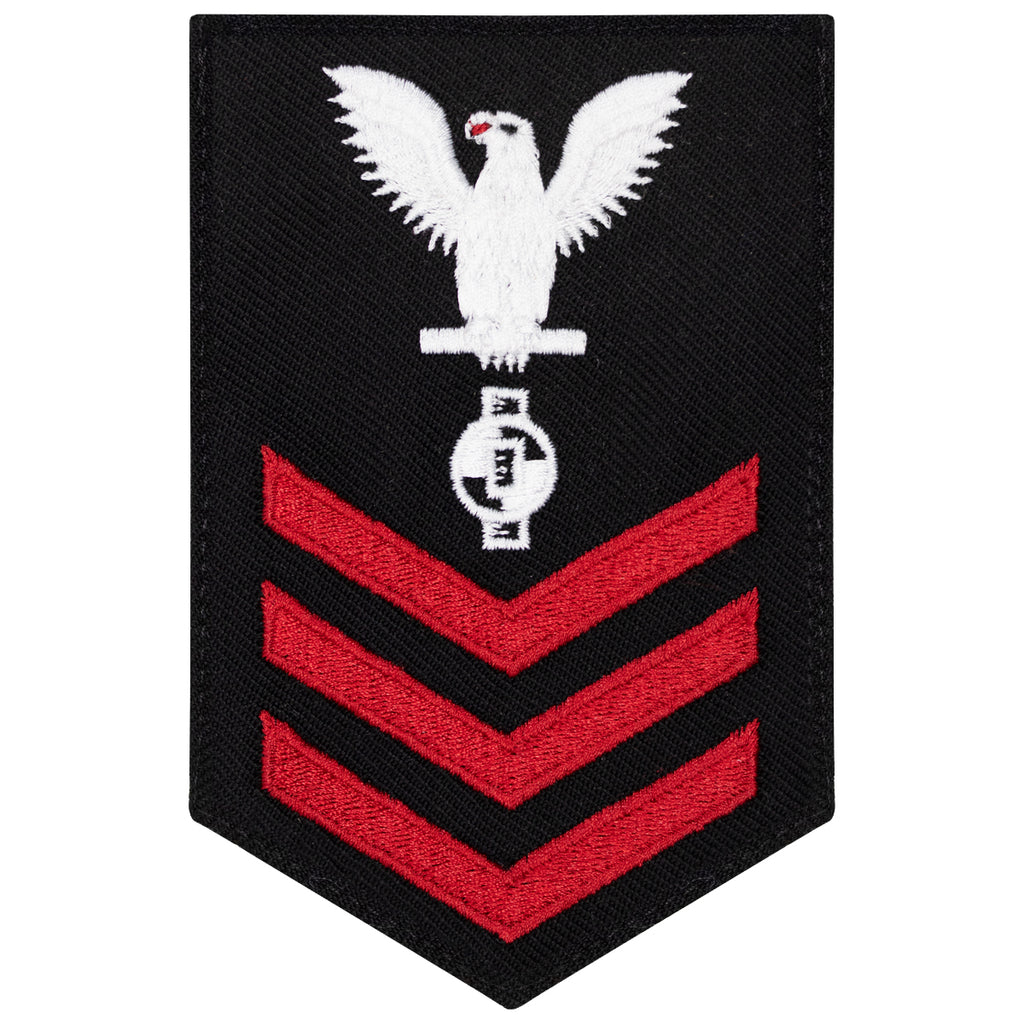 Navy E6 FEMALE Rating Badge: Engineering Aide - New Serge for Jumper
