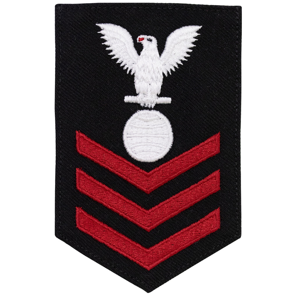 Navy E6 FEMALE Rating Badge: Electricians Mate - New Serge for Jumper
