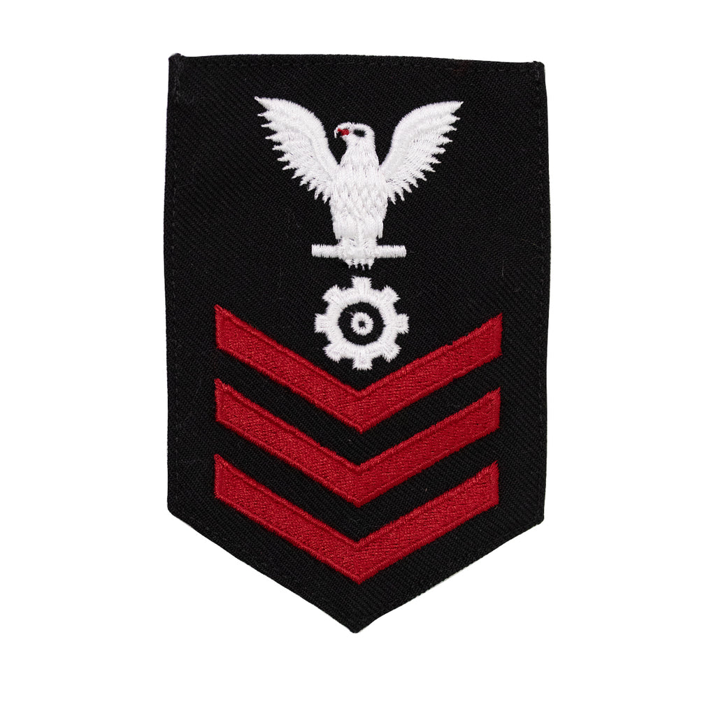 Navy E6 FEMALE Rating Badge: Engineman - New Serge for Jumper