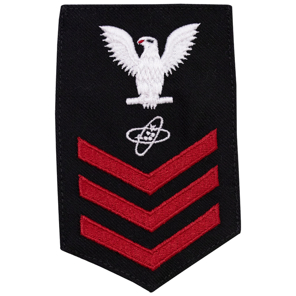 Navy E6 FEMALE Rating Badge: Electronics Tech - New Serge for Jumper
