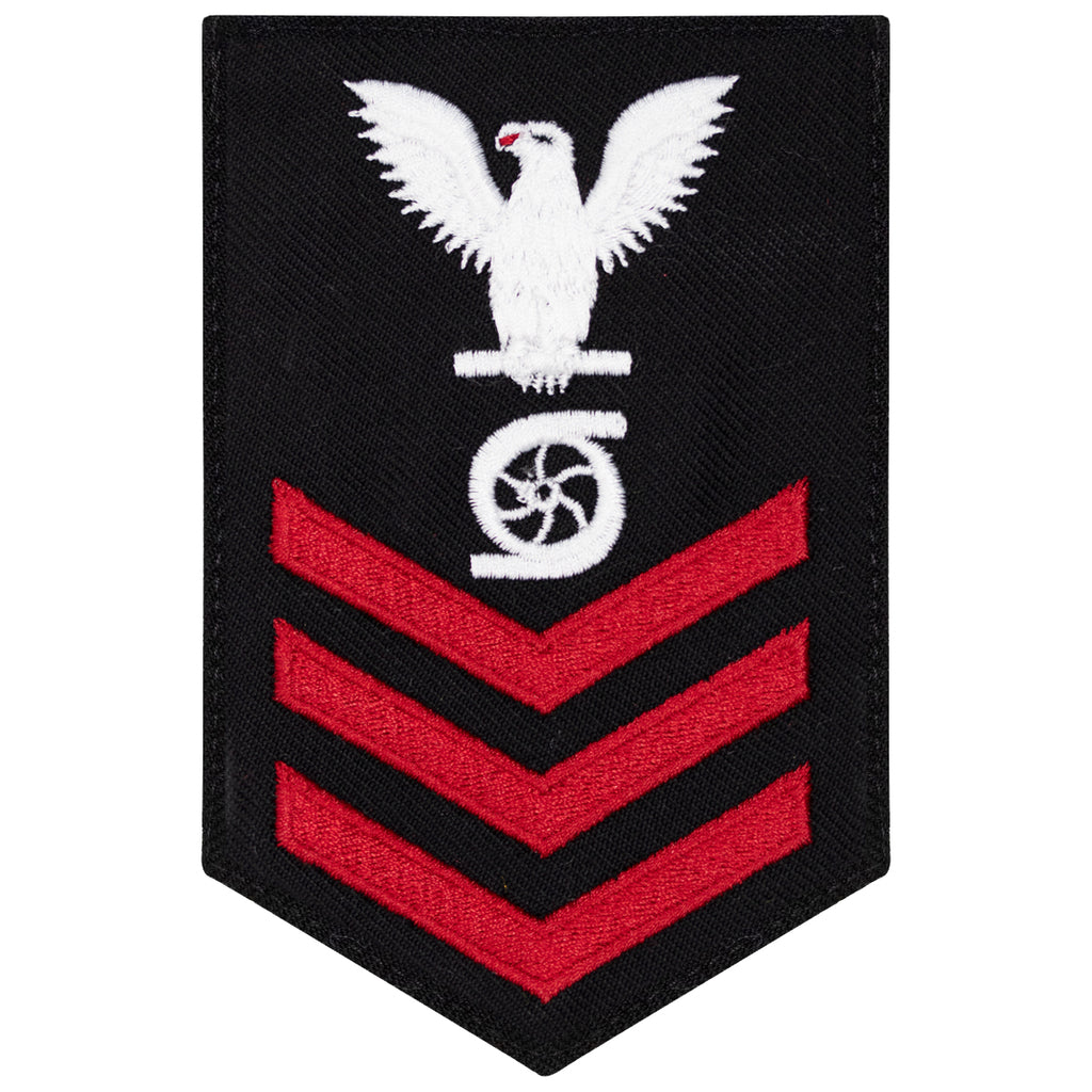 Navy E6 FEMALE Rating Badge: Gas Turbine System Tech - New Serge for Jumper