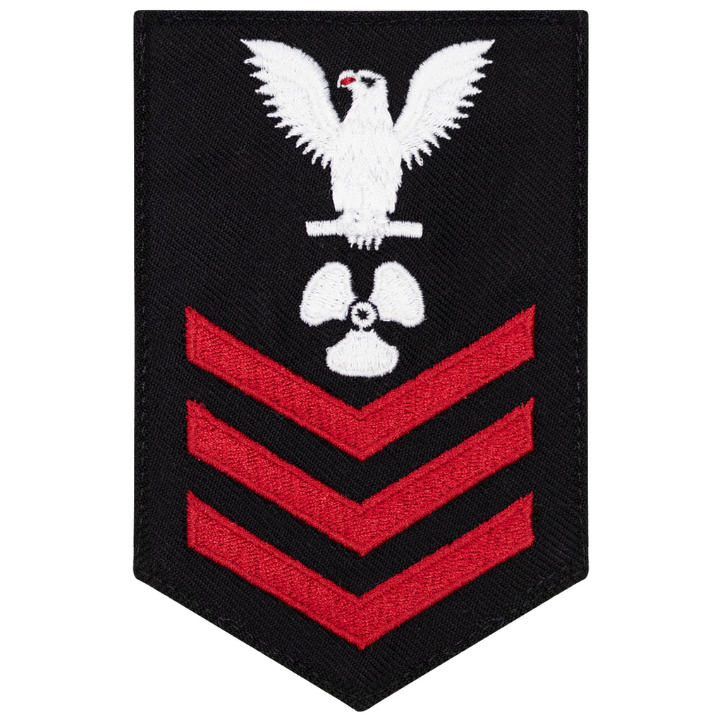 Navy E6 FEMALE Rating Badge: Machinists Mate - New Serge for Jumper