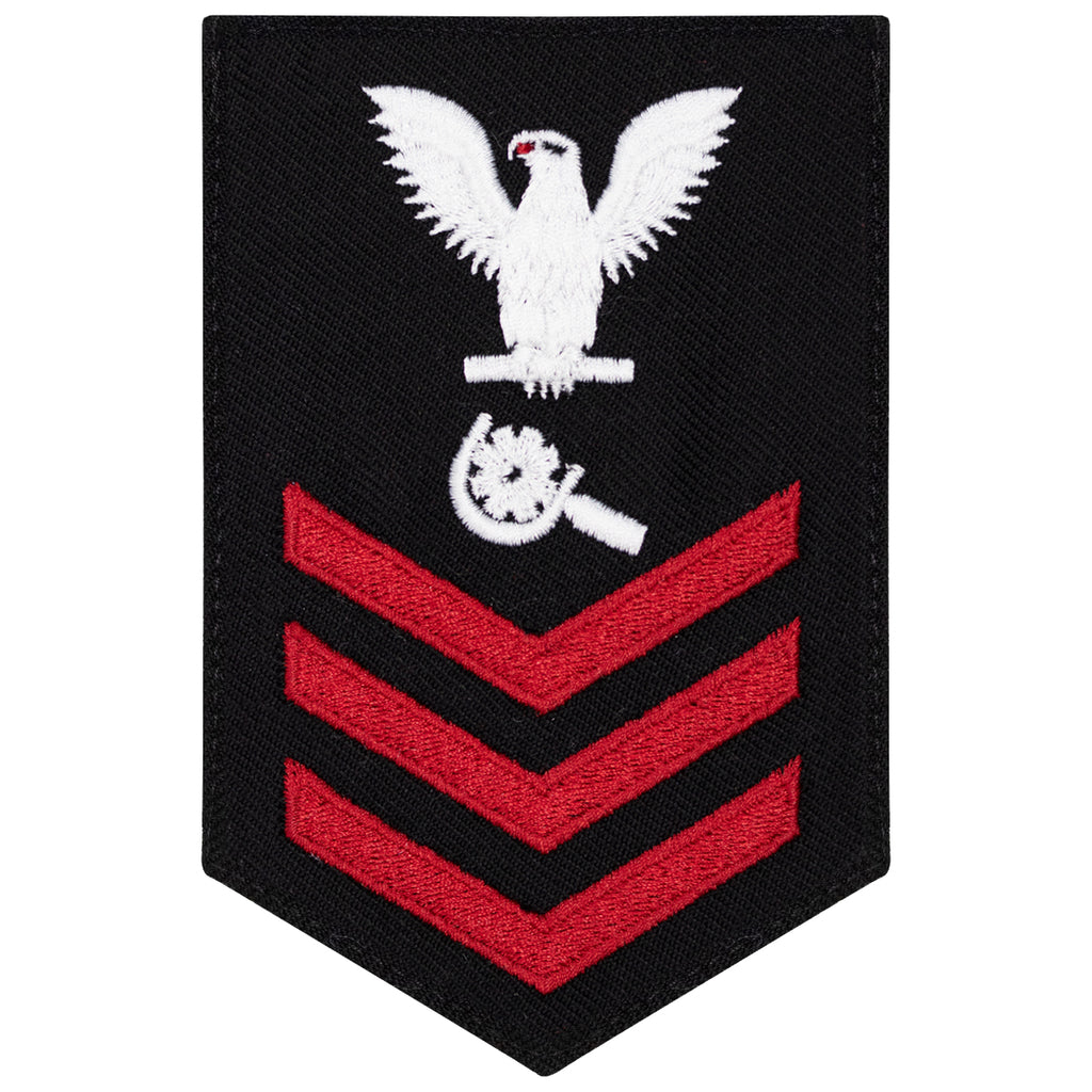 Navy E6 FEMALE Rating Badge: Machinery Repairman - New Serge for Jumper