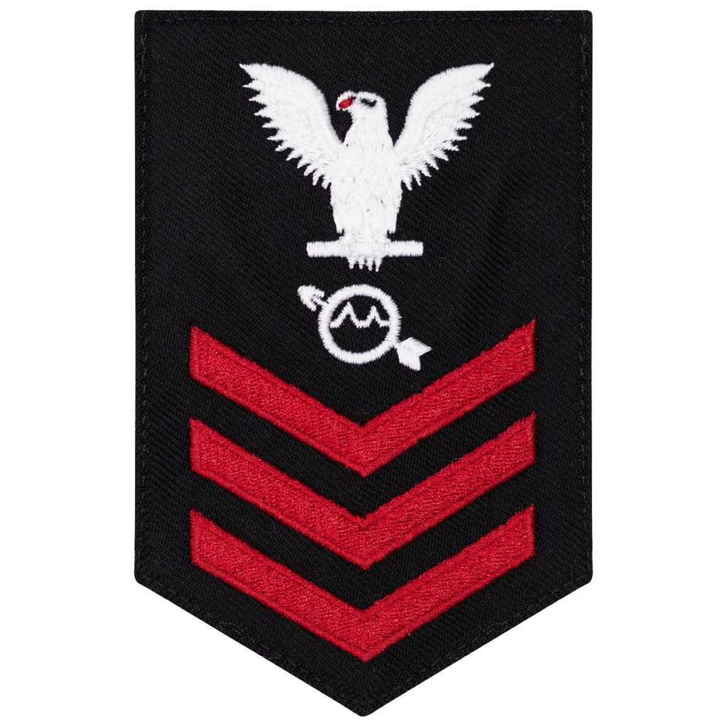 Navy E6 FEMALE Rating Badge: Operations Specialist - New Serge for Jumper