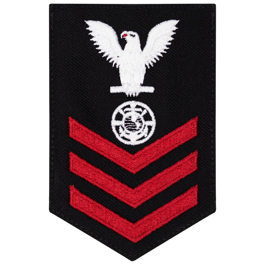 Navy E6 FEMALE Rating Badge: Religious Program Specialist - New Serge for Jumper