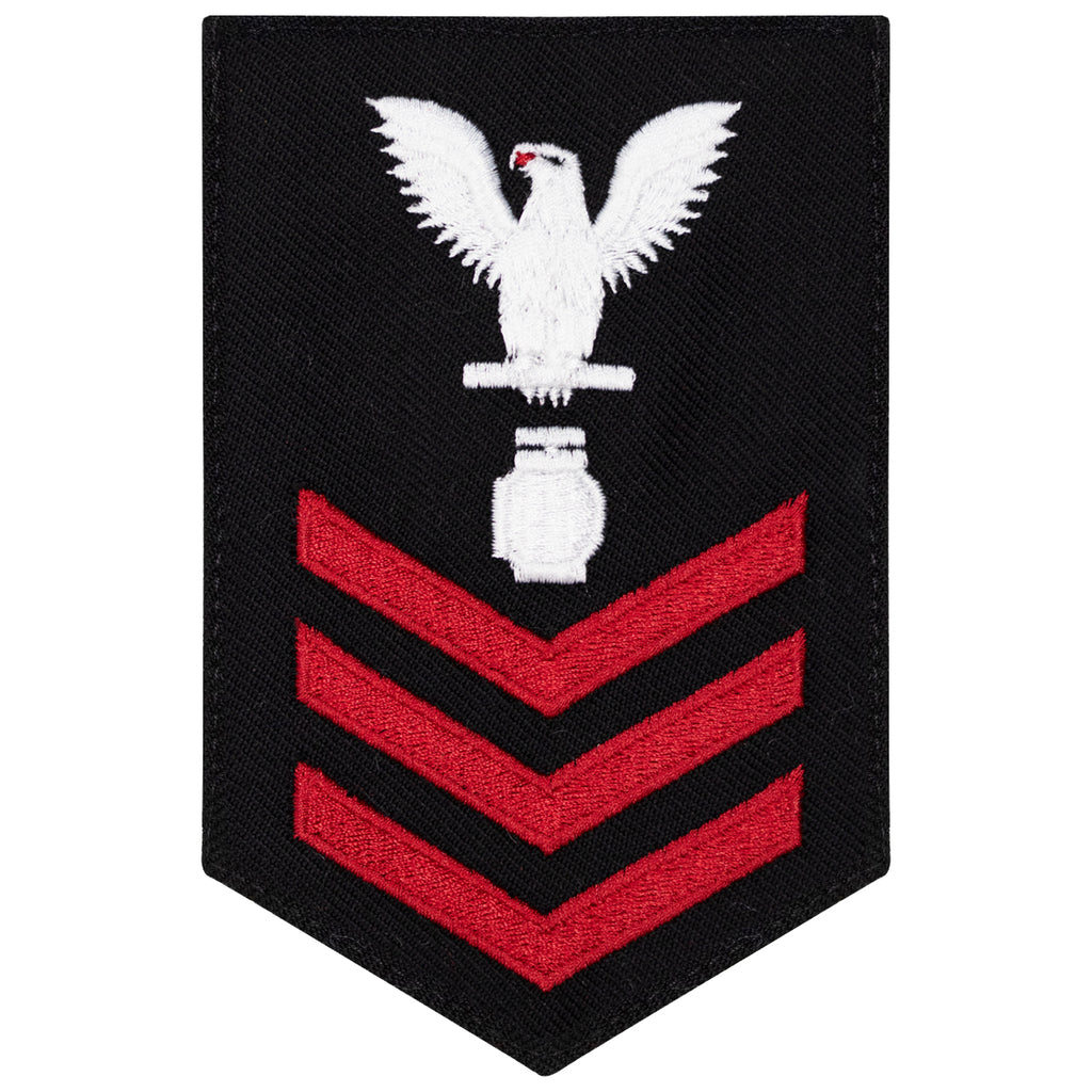 Navy E6 FEMALE Rating Badge: Utilitiesman - New Serge for Jumper