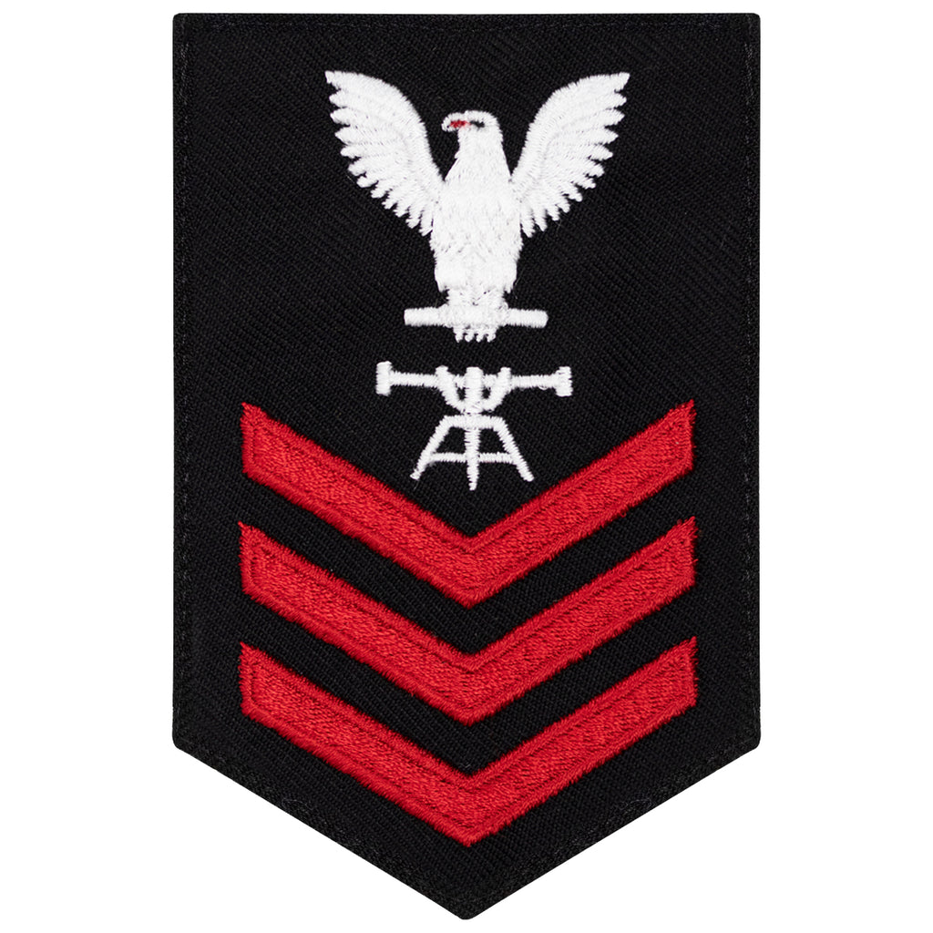 Navy E6 FEMALE Rating Badge: Fire Control Tech - New Serge for Jumper