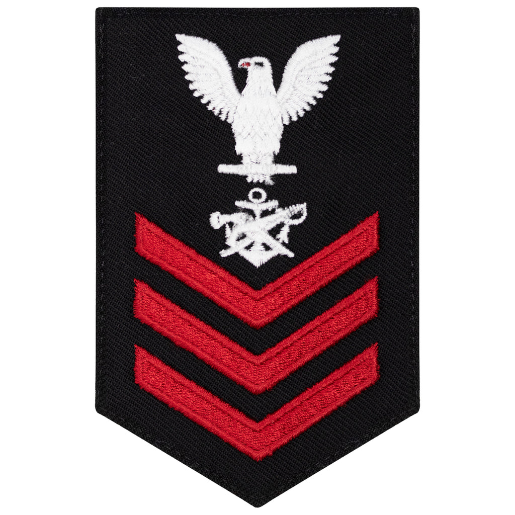 Navy E6 FEMALE Rating Badge: Special Warfare Boat Operator - New Serge for Jumper