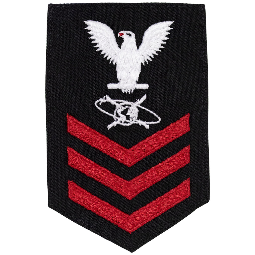 Navy E6 FEMALE Rating Badge: Mass Communication Specialist - New Serge for Jumper