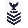 Navy E6 FEMALE Rating Badge: Aviation Electrician's Mate - white