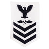 Navy E6 FEMALE Rating Badge: Aviation Structure Mechanic - white