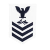 Navy E6 FEMALE Rating Badge: Aviation Support Equipment Technician - white