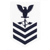 Navy E6 FEMALE Rating Badge: Aviation Maintenance - white