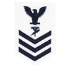 Navy E6 FEMALE Rating Badge: Construction Electrician - white