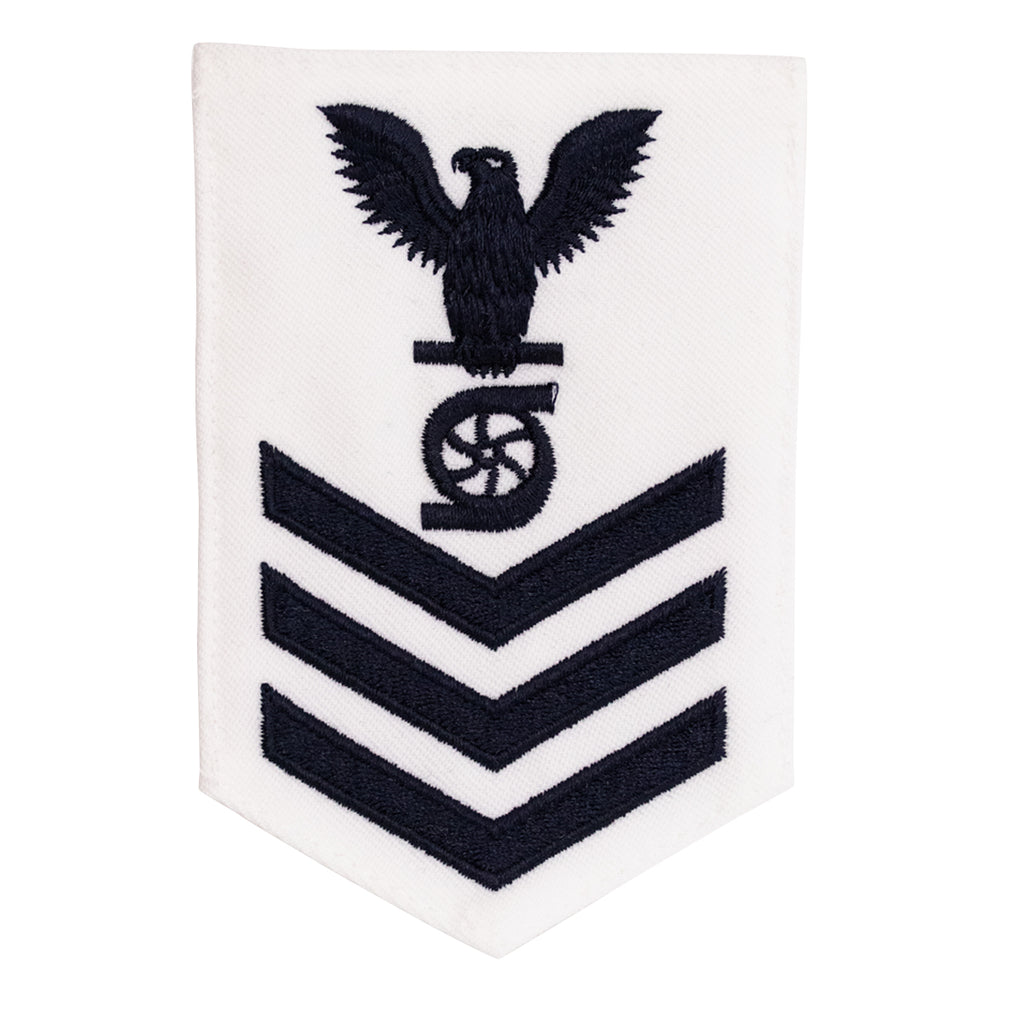 Navy E6 FEMALE Rating Badge: Gas Turbine System Technician - white
