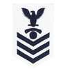 Navy E6 FEMALE Rating Badge: Interior Communications Electrician - white