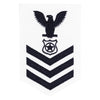 Navy E6 FEMALE Rating Badge: Master At Arms - white