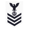 Navy E6 FEMALE Rating Badge: Religious Programs Specialist - white