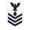 Navy E6 FEMALE Rating Badge: Utilitiesman - white
