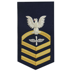 Coast Guard E7 Rating Badge:  Aviation Maintenance Technician - blue