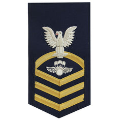Coast Guard E7 Rating Badge:  Aviation Survival Technician - blue