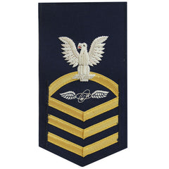 Coast Guard E7 Rating Badge:  Avionics Technician - blue