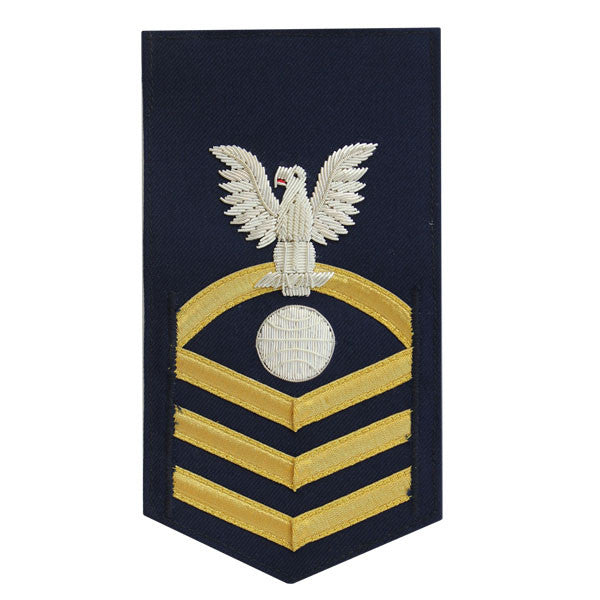 Coast Guard E7 Male Rating Badge: Electrician Mate - blue