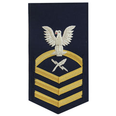 Coast Guard E7 Male Rating Badge: Intelligence Specialist - blue