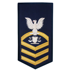 Coast Guard E7 Male Rating Badge: Investigator - blue
