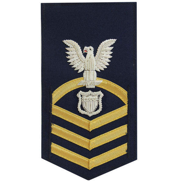 Coast Guard E7 Male Rating Badge: Maritime Enforcement - blue