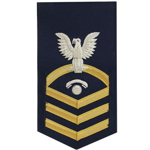 Coast Guard E7 Rating Badge:  Information Specialist