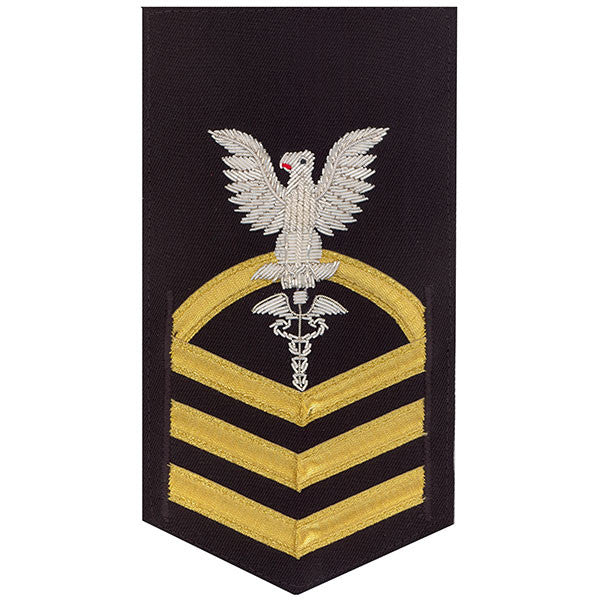 Navy E7 Rating Badge: Hospital Corpsman - vanfine on blue