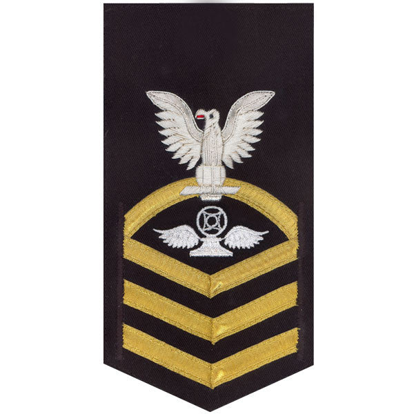 Navy E7 Rating Badge: Air Traffic Control - vanchief on blue