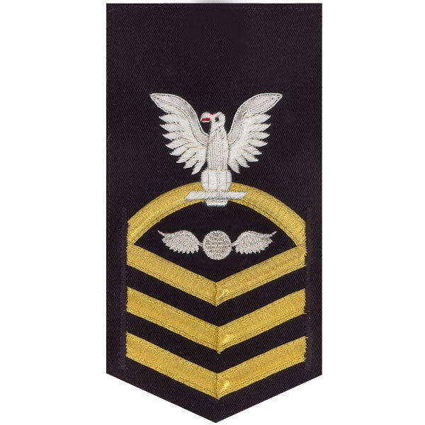 Navy E7 Rating Badge: Aviation Electrician's Mate - vanchief on blue
