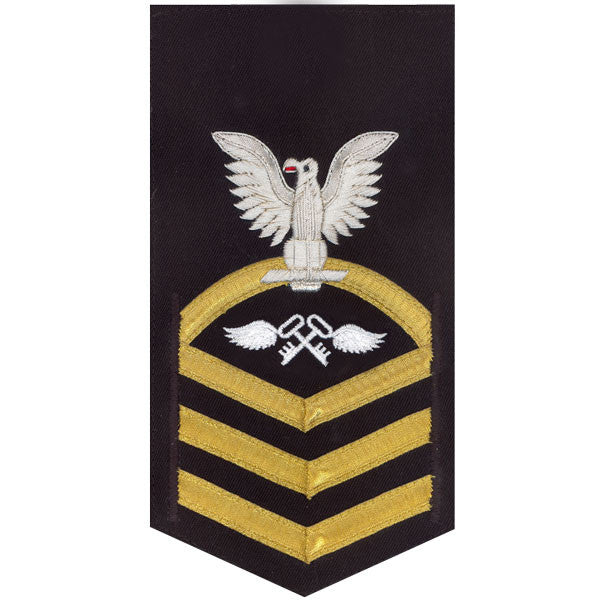 Navy E7 Rating Badge: Aviation Storekeeper - vanchief on blue