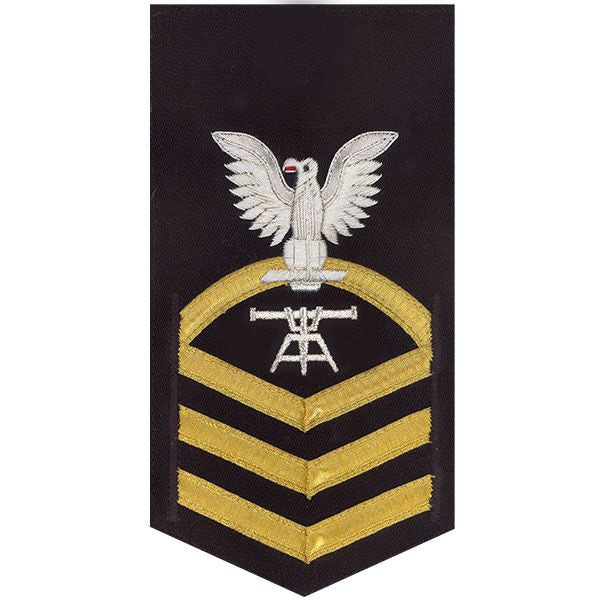 Navy E7 MALE Rating Badge: Fire Control Technician - vanchief on blue