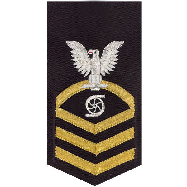 Navy E7 Rating Badge: Gas Turbine System Technician - vanchief on blue