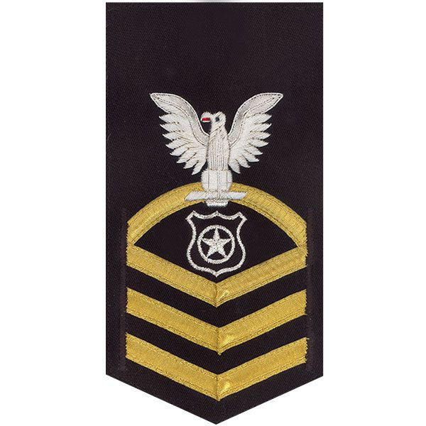 Navy E7 Rating Badge: Master At Arms - vanchief on blue