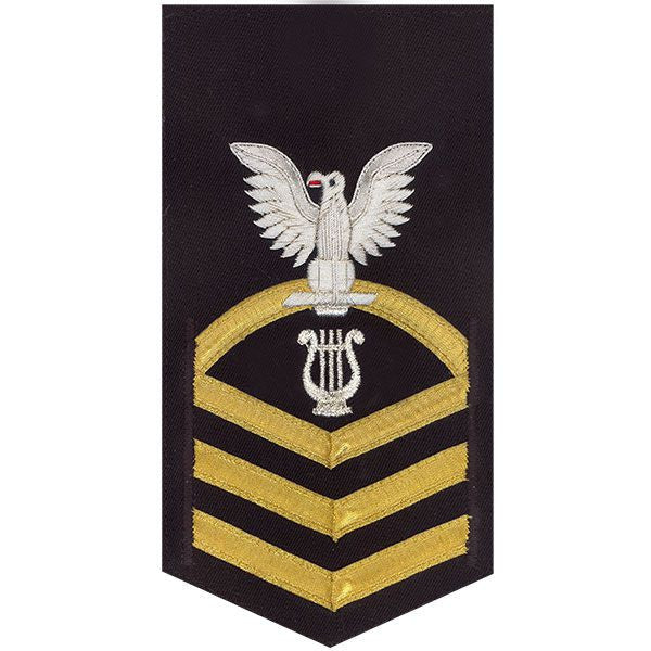 Navy E7 Rating Badge: Musician - vanchief on blue