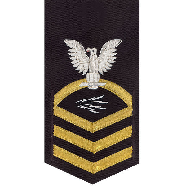Navy E7 Rating Badge: Information Technician Specialist - vanchief on blue