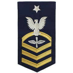 Coast Guard E8 Rating Badge:  Aviation Maintenance Technician - BLUE