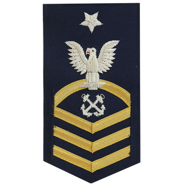 Coast Guard E8 Male Rating Badge:  Boatswain Mate