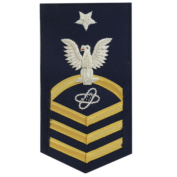 Coast Guard E8 Male Rating Badge:  Electronics Technician