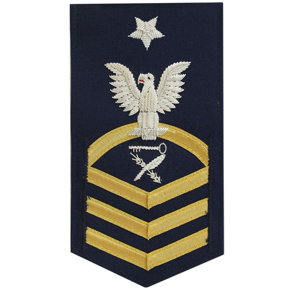 Coast Guard E8 Rating Badge:  Culinary Specialist - blue