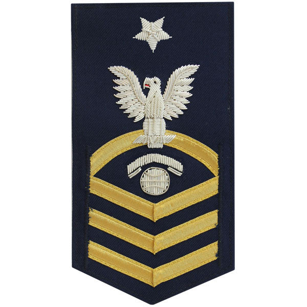 Coast Guard E8 Rating Badge:  Information Specialist