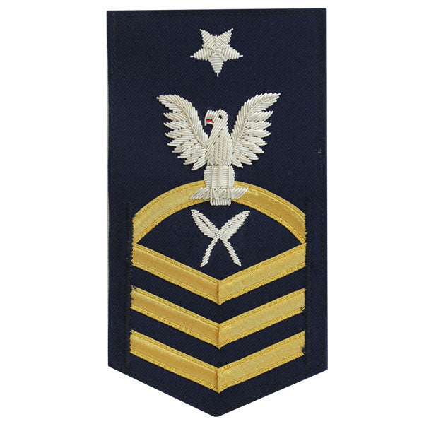 Coast Guard E8 Male Rating Badge:  Yeoman