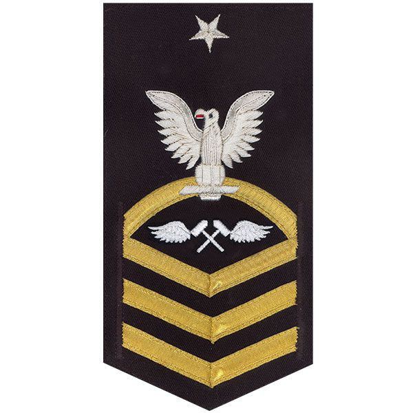 Navy E8 Rating Badge: Aviation Structure Mechanic - vanchief on blue